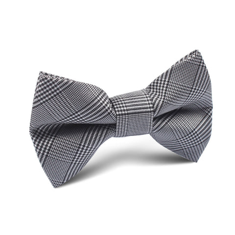 Grey Glen Plaid Kids Bow Tie