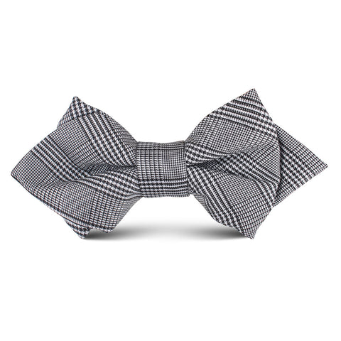 Grey Glen Plaid Kids Diamond Bow Tie