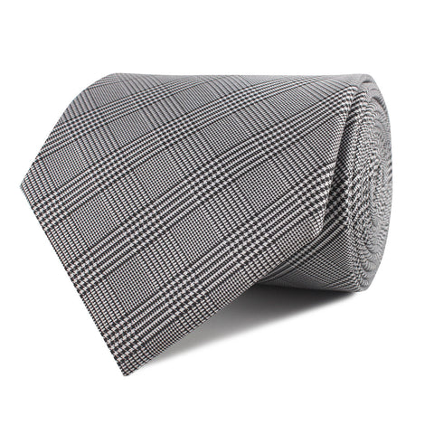 Grey Glen Plaid Necktie