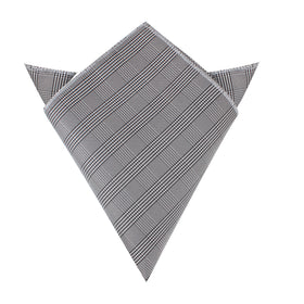 Grey Glen Plaid Pocket Square