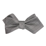 Grey Glen Plaid Self Tie Diamond Tip Bow Tie 1