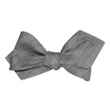 Grey Glen Plaid Self Tie Diamond Tip Bow Tie 3
