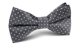 Grey Mini Polka Dots Bow Tie