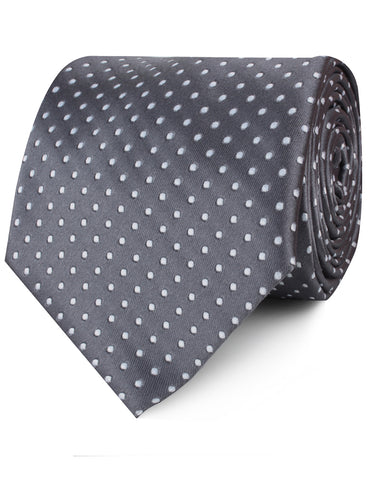 Grey Mini Polka Dots Necktie