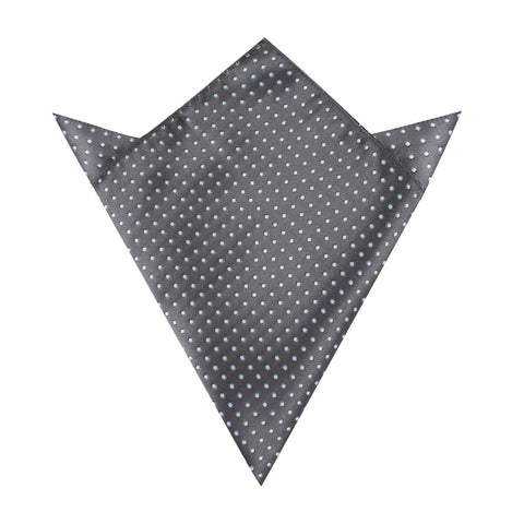 Grey Mini Polka Dots Pocket Square