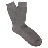 Grey Textured Cotton-Blend Stylish Mens OTAA Socks