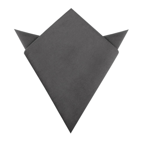 Grey Velvet Pocket Square