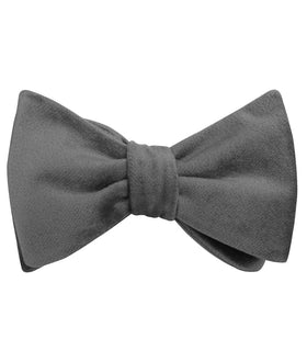 Grey Velvet Self Bow Tie