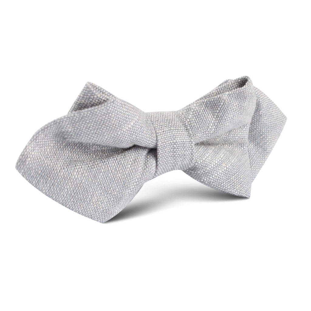 Grey Worm Slub Linen Diamond Bow Tie