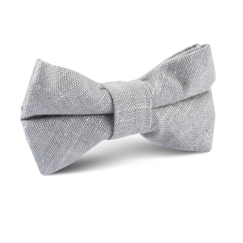 Grey Worm Slub Linen Kids Bow Tie