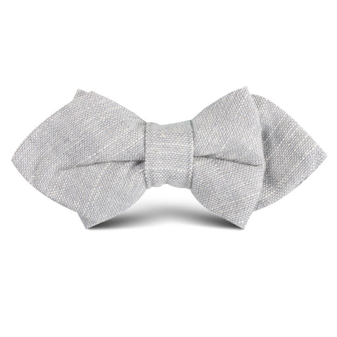 Grey Worm Slub Linen Kids Diamond Bow Tie