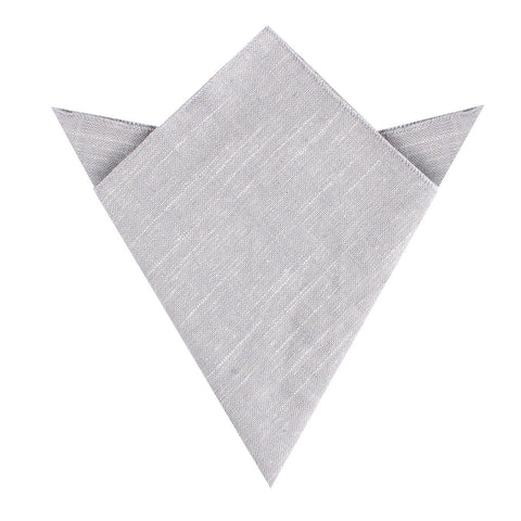 Grey Worm Slub Linen Pocket Square
