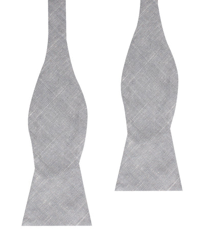 Grey Worm Slub Linen Self Bow Tie