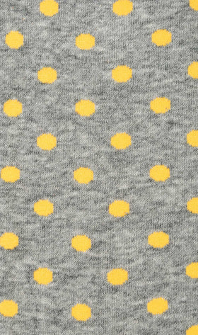 Grey Yellow Polka Dot Socks