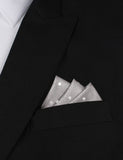 Grey with Milky White Polka Dots Oxygen Three Point Pocket Square Fold