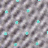 Grey with Mint Green Polka Dots Fabric Skinny Tie M114