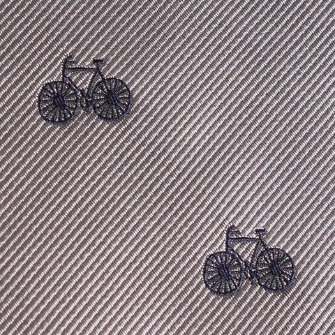 Grey with Navy Blue French Bicycle Bow Tie