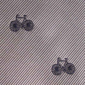 Grey with Navy Blue French Bicycle Kids Bow Tie