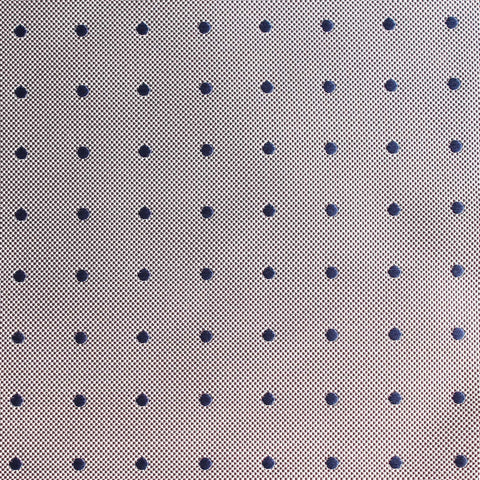 Grey with Oxford Navy Blue Polka Dots Pocket Square