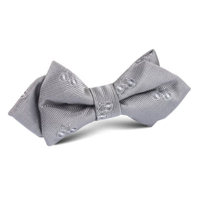 Grey with White French Bicycle Diamond Bow Tie