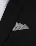 Grey with White French Bicycle Oxygen Three Point Pocket Square Fold