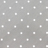 Grey with White Polka Dots Fabric Self Tie Bow Tie X240