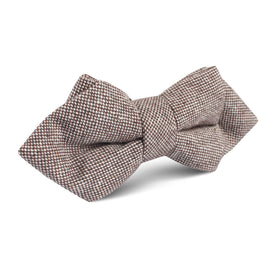 Greyjoy Sharkin Linen Diamond Bow Tie