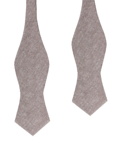 Greyjoy Sharkin Linen Diamond Self Bow Tie
