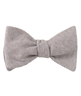 Greyjoy Sharkin Linen Self Bow Tie