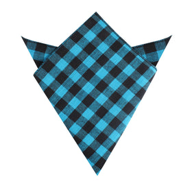 Grim Blue Gingham Pocket Square