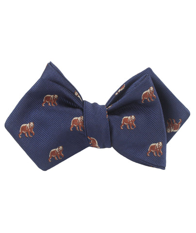 Grizzly Bear Diamond Self Bow Tie