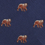 Grizzly Bear Fabric Self Bowtie