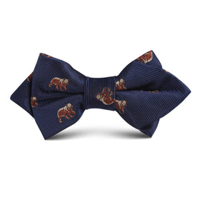 Grizzly Bear Kids Diamond Bow Tie