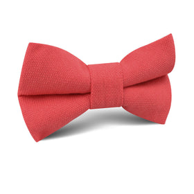Guava Coral Linen Kids Bow Tie