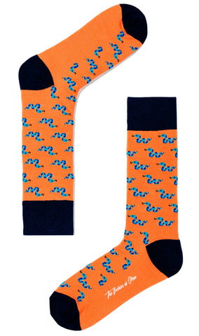 Gummy Snake Orange Socks