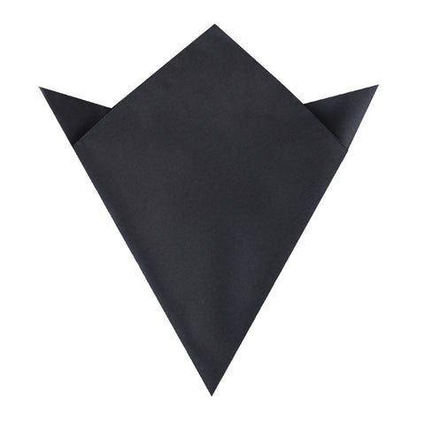 Gun Grey Satin Pocket Square