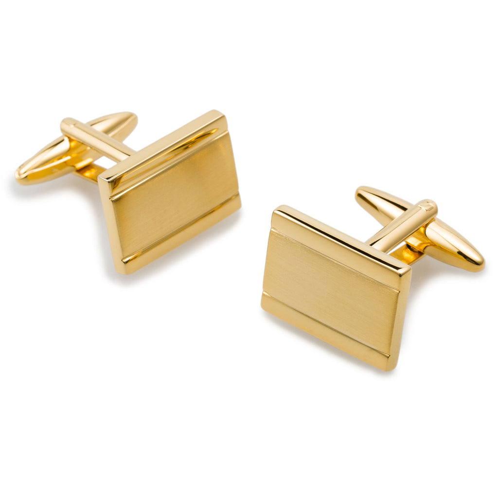 Haile Selassie Gold Rectangle Cufflinks