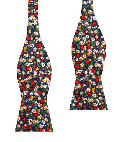 Hanoi Red Rose Self Bow Tie