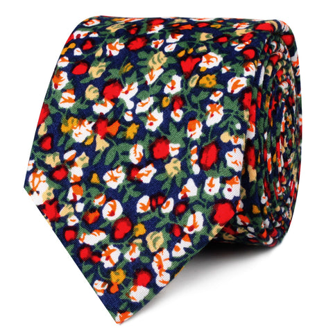 Hanoi Red Rose Skinny Tie