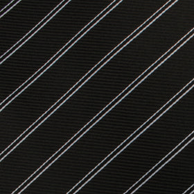 Harlem Black Striped Pocket Square