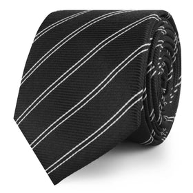 Harlem Black Striped Skinny Tie