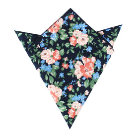 Havana Pink Floral Pocket Square