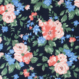 Havana Pink Floral Pocket Square Fabric