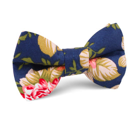 Hawaiian Pink Floral Kids Bow Tie