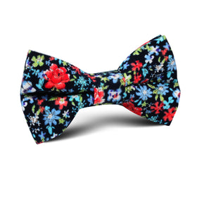 Hawaiian Floral Kids Bow Tie