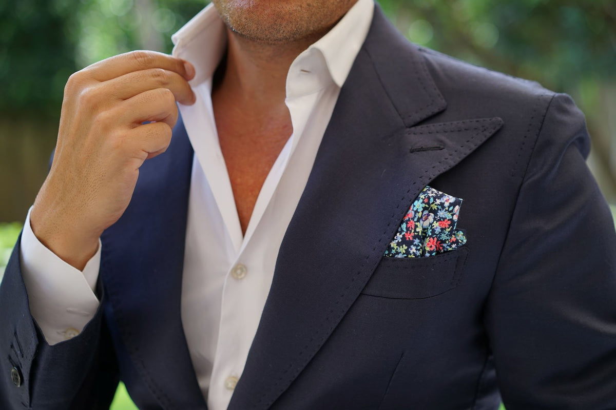 Hawaiian Floral Pocket Square