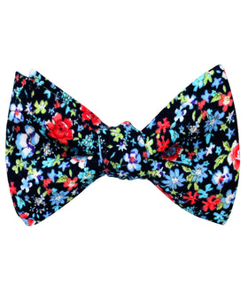 Hawaiian Floral Self Bow Tie