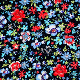 Hawaiian Floral Skinny Tie Fabric