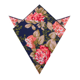 Hawaiian Pink Floral Pocket Square