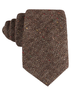 Herringbone Chestnut Wool Tie